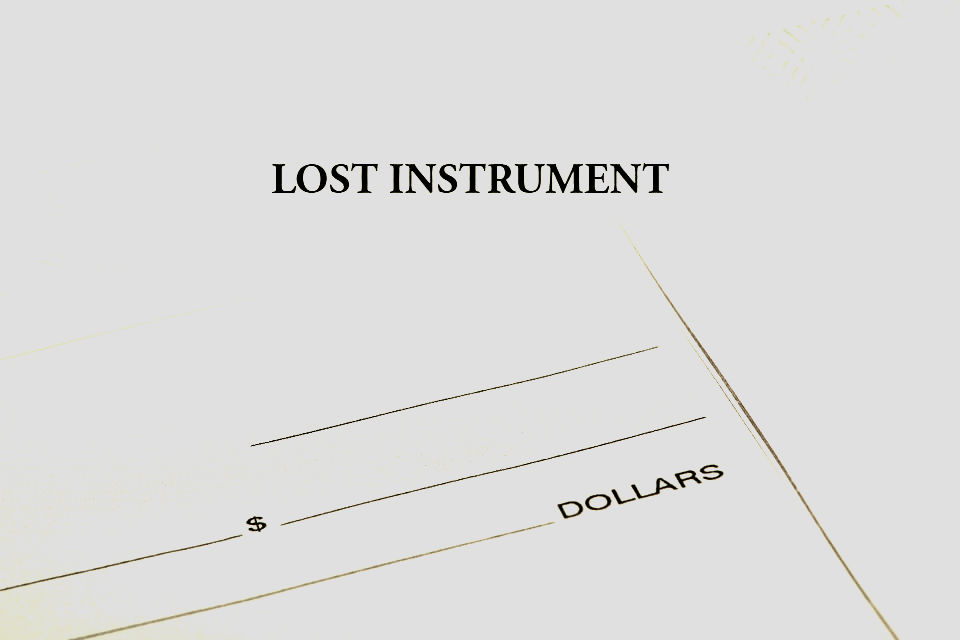 North Carolina Lost Instrument Bond