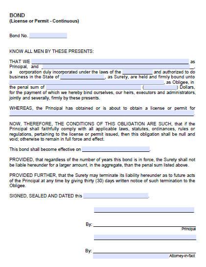 Dixon California Encroachment Permit Bond