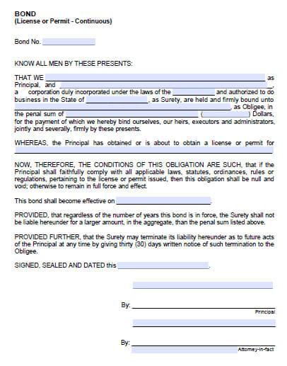 Selma City Encroachment Permit Bond