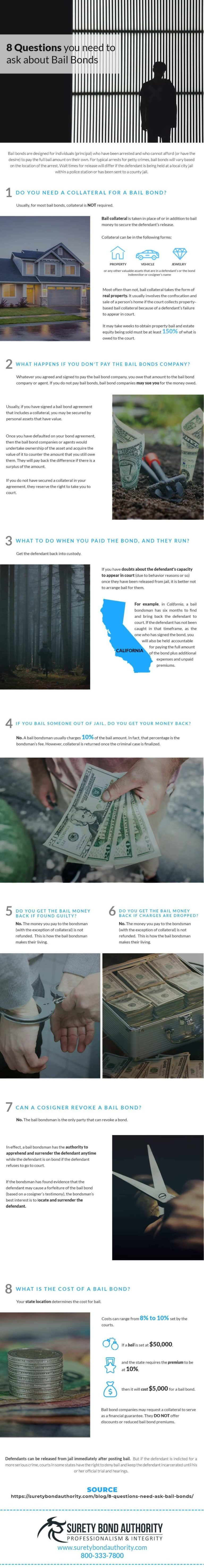 8 Questions about Bail Bonds Infographic