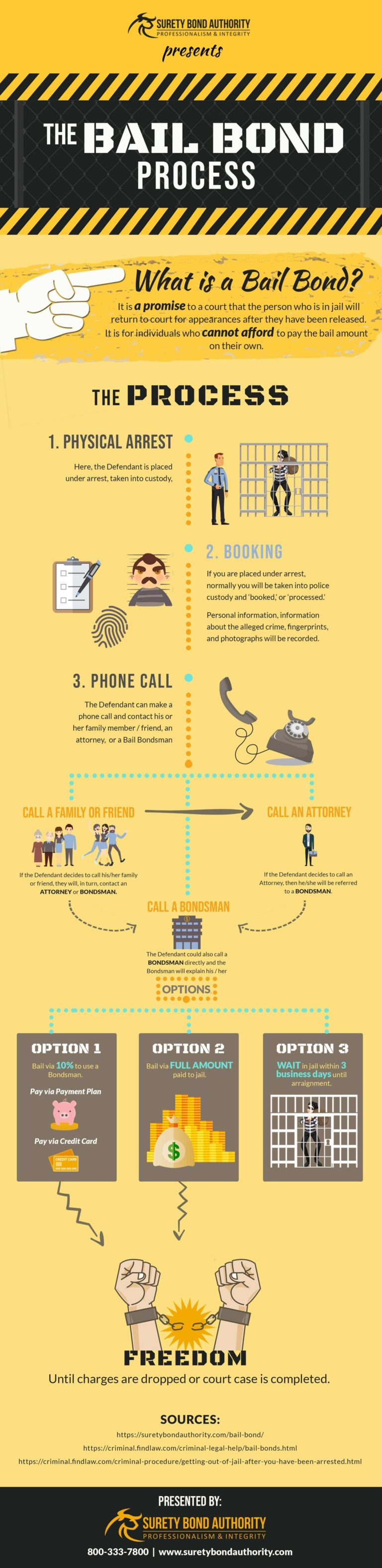 Bail Bond Process Infographic