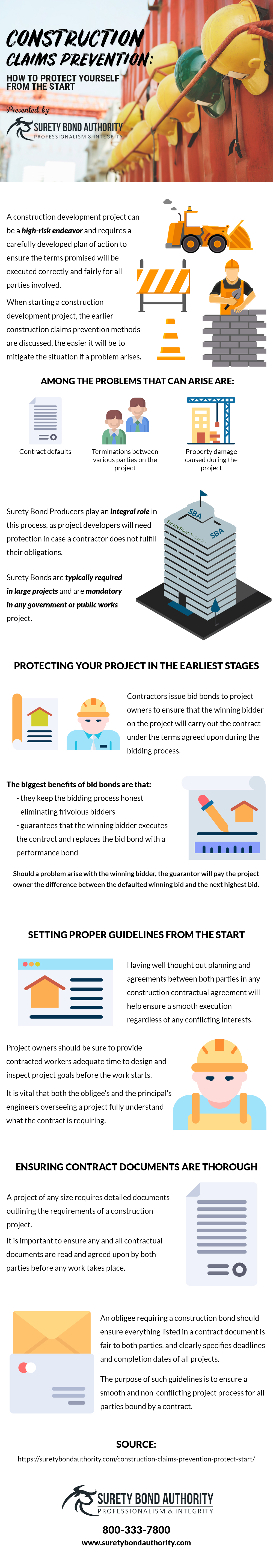 Construction Claims Prevention Infographic