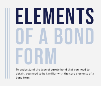 The Elements of a Bond Form