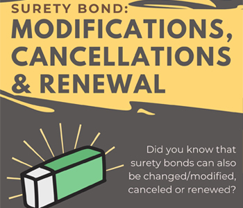 Surety Bond: Modifications, Cancellations and Renewals